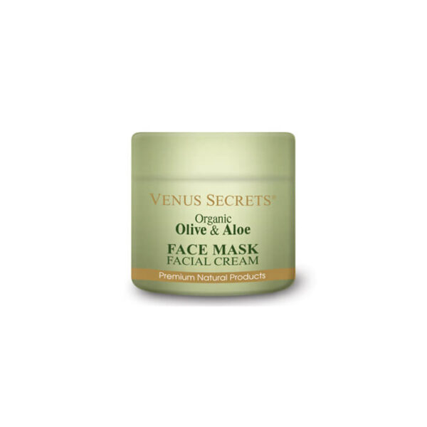 Face Mask with Organic Olive and Aloe Vera 125ml jar