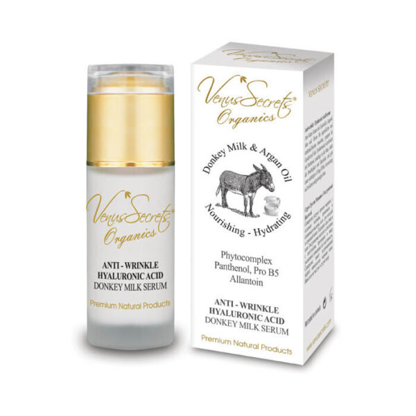 Anti-Wrinkle Hyaluronic Acid Serum with Donkey Milk and Argan Oil 40ml