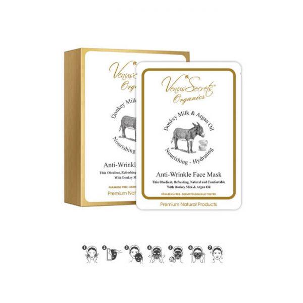 Face Mask Moisturizing Box with Donkey Milk and Aloe Vera 150ml