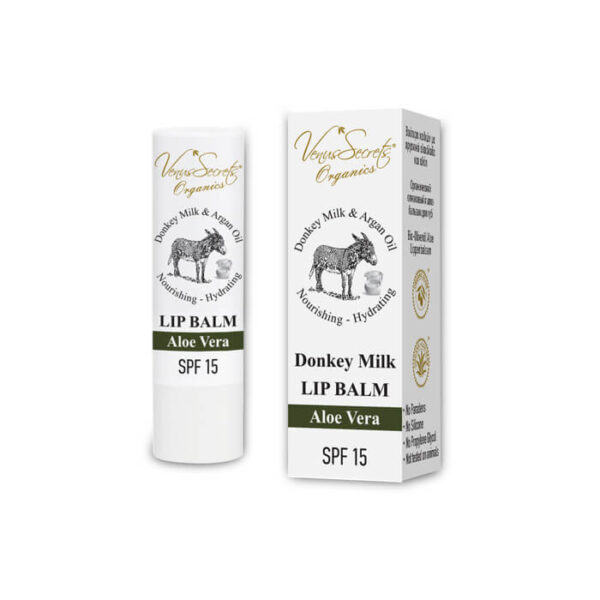Lip Balm with Donkey Milk, Argan Oil and Aloe Vera Essence 4.6g