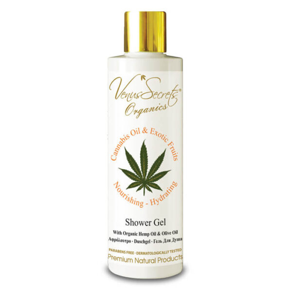 Shower Gel with Cannabis Oil, Organic Olive and Exotic Fruits 250ml