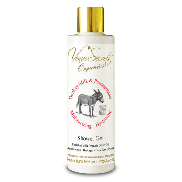 Shower Gel with Donkey Milk, Organic Olive and Pomegranate 250ml