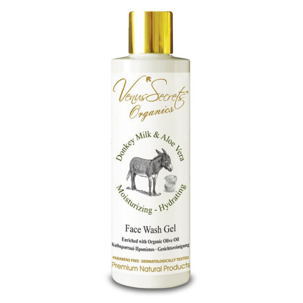 Face Wash Gel with Donkey Milk and Aloe Vera 250ml
