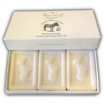 Σαπούνι με Γάλα Γαϊδούρας σε συσκευασία δώρου 3x150g
