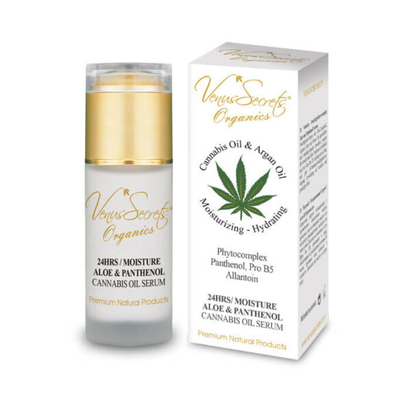 24 Hours Moisture with Cannabis Oil, Aloe Vera and Panthenol Serum 40ml
