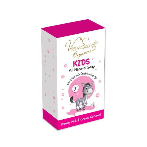 Kids-Soap-Donkey-Milk-and-creme-caramel-110g-box